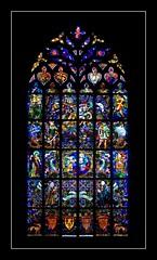 Window (haberlea) Tags: france church window glass architecture brittany basilica stainedglass josselin onewindow notredameduroncier