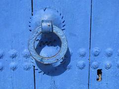 Chefchaouen (Sallyrango) Tags: door blue northafrica arabic morocco maroc medina knocker chaouen chefchaouen