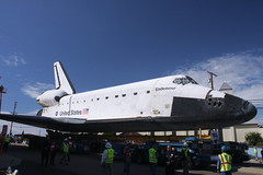 1210-Endeavour-72 (musematt11) Tags: california la losangeles space transport move nasa shuttle css lax citystreets spacecraft orbiter californiasciencecenter towed sts endeavour