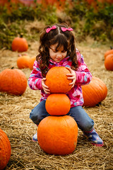 Pumpkin Patch 2012 (Shane Woodall) Tags: newyork fall pumpkin twins october lily farm ella queens pumpkinpicking pumpkinpatch 2012 70200mm queenscountyfarmmuseum canon5dmarkiii shanewoodallphotography