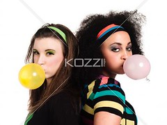 young women standing back to back and blowing bubble gum (alicepeople2012) Tags: pink friends beautiful beauty yellow standing gum fun photography togetherness women friendship lifestyle blowing funky womenonly indoors whitebackground trendy bubble chewing studioshot females chewinggum sideview youngadult twopeople casualwear adultsonly confectionary caucasian headandshoulders backtoback companionship casualclothing colorimage blowingbubble onlyyoungwomen attractivefemales pullingfunnyface 2024years