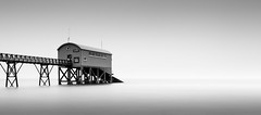 Selsey Lifeboat Station (RichardHurstPhotography) Tags: longexposure bw seascape mono coast selsey pir lifeboatstation