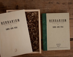 herbarium (arminho-paper) Tags: wood flowers chart green leaves vintage paper notebook petals box recycled handmade journal mother save relief cotton gift printing packaging letterpress printed til hardcover herbario herbarium arminho bookbidding