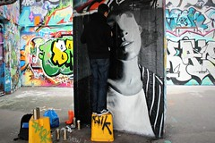 TakerOne at work (8333696) Tags: park street portrait urban art wall tin graffiti mural hungary artist can spray skatepark skate spraypaint aerosol taker takerone