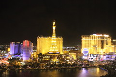 Paris Casino at night, Las Vegas
