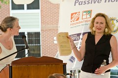 "CEO & President Susanne Slater Accepts the Green Communities Award • <a style=""font-size:0.8em;"" href=""http://www.flickr.com/photos/89365820@N03/8135855496/"" target=""_blank"">View on Flickr</a>"