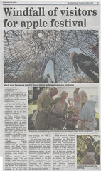 Chichester Observer 4th Oct 2012 (Mark and Rebecca Ford Art Sculpture) Tags: