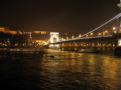 Chain Bridge (Lánchid) from Viking Legend, Budapest HU (vic&becky) Tags: hungary enlightedbridge