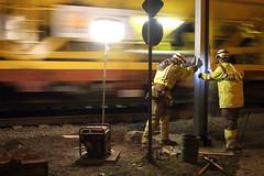 Colas Rail @ Work (Peter Van Gestel) Tags: rail 15 ow es geel 90 infra pn spoor ligne baan dienst lijn nmbs colas logen bovenleiding sncb spoorwerken infrabel colasrail elektrificatie