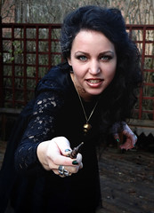 Me as Bellatrix Lestrange for Harry Potter themed Halloween. (another tipsy sailor) Tags: halloween tattoo necklace witch lace wand harrypotter masquerade blackhair pendant azkaban bellatrixlestrange aliciasivert aliciasivertsson