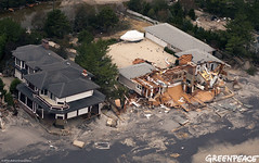 Beachfront Damage (Greenpeace USA 2015) Tags: usa storm newjersey sandy hurricane nuclear aerial powerstation climatechange alert globalwarming ostercreek