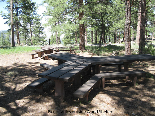 Photo - Tables outside the Wood Shelter