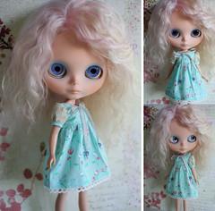 Aqua Delight (jessi.bryan) Tags: doll sewing dresses ribbon blythe wingsinflight