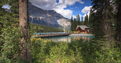Emerald Lake panoramic view (seryani) Tags: bridge summer naturaleza mountain lake canada nature beauty america canon landscape rockies island nationalpark amrica scenery bc britishcolumbia lac august panoramic lodge agosto alberta verano northamerica rockymountains montaa isla canad montaas 2012 yoho emeraldlake canadianrockies parquenacional yohonationalpark canadianrockymountains canonef2470f28l norteamrica canon2470 lagoesmeralda montaasrocosas canoneos5dmarkii canadarockymountains august2012 summer2012 montaasrocosasdecanad lagoemerald verano2012 agosto2012 parquenacionaldeyoho lakgo
