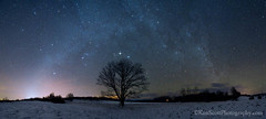 Milky Way ... 1-7-13 (Ken Scott) Tags: longexposure winter panorama usa snow silhouette night stars michigan january mapletree preservation milkyway leelanau 2013 landprotection theleelanauconservancy
