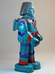 Billiken Shokai  Tin Wind Up  Giant Robo ()  Side (My Toy Museum) Tags: up giant tin wind robo billiken