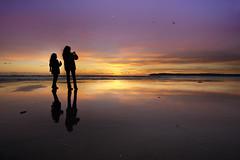Another Coronado Sunset (Lee Sie) Tags: ocean california sunset sky reflection beach colors silhouette clouds sand pacific sandiego coronado beachgoers