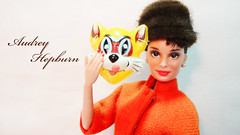 Miss Audrey Hepburn with Cat Mask (possiblezen) Tags: holiday fashion cat outfit doll mask five ooak barbie holly audrey blond blonde ten target brunette custom miss limited edition fr fairchild exclusive royalty mattel hepburn 2012 tiffanys golightly catmask breafast repaint 2013