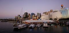 Darling Harbour @dusk (dlerps) Tags: water skyline boats dusk sony sydney sigma australia darlingharbour sydneytower lerps sonyalphadslr daniellerps