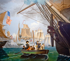 CU460 Perry on Lake Erie (listentoreason) Tags: usa art philadelphia museum america canon painting unitedstates pennsylvania favorites places pennslanding ef28135mmf3556isusm score30 independenceseaportmuseum philadelphiamaritimemuseum