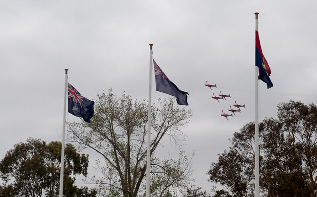 RAAF Roulettes over Melbourne on Australia Day 2013