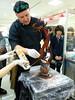second day showpiece (Zuckerschlosser) Tags: students japan store team live valentine hiroshima event chef pastry schokolade department meister patissier chocolatier showpiece fukuya konditor chcoclate zuckerschlosser schaustueck