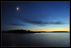 Atmospheric scenario! (bent.christiansen) Tags: blue sunset sea sky sun moon nature water silhouette yellow night dark denmark nikon nocturnal darkness dusk nighttime nights moonlight nightshots danmark nakskov nikond5000 blinkagain besteverdigitalphotography