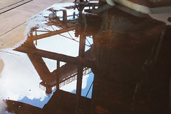 The Vlklinger Htte Reflected in a Puddle (picaddict) Tags: reflection puddle iron rusty reflexion rostig saarland weltkulturerbe eisen vlklingen pftze vlklingerhtte weltkulturerbevolklingerhutte worldheritageside