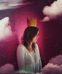 """Sweet as child dreams"" (daphne og.) Tags: portrait selfportrait texture girl childhood clouds self project stars child dream days dreams crown 365 magical bylesbrumes"