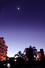 Out of my Window (mariavitoriam) Tags: blue sky moon sc nature janela anoitecer cricima