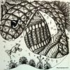 Plaid Dragonfish (Scrapacat) Tags: fish copic zentangle zendoodle tsp016
