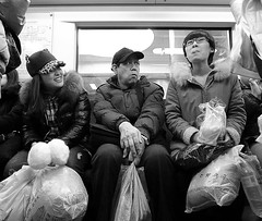 Fellow passengers (Fear_Through_The_Eyes) Tags: china street people train subway beijing snap