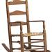 121. 19th Century Ladder Back Rocker