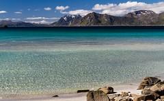 Gamme... (J&S.) Tags: henningsvaer norvege bleu mer montagne fjord nuage eau paysage nature gamme couleur voyage