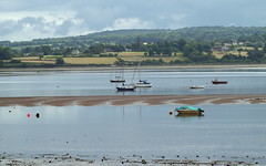 Moored boats (ExeDave) Tags: p7016824 exe estuary starcross teignbridge devon sw england gb uk coastal tidal river landscape waterscape midtide sandbank sssi spa natura natura2000 n2k site ramsarsite boats yachts moored still july 2016 explore interestingness500