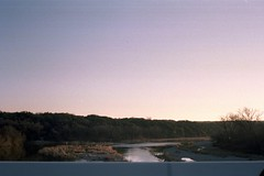 A river from a bridge. (jchal) Tags: 400 film portra kodak morning sunrise river brazos texas tessar 35t rollei