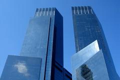 Columbus Circle, New York City, USA (tfadam) Tags: timewarnercenter manhattan columbuscircle bluesky highrise architecture newyork building glass reflection sunshine
