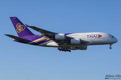 Thai Airways International --- Airbus A380 --- HS-TUF (Drinu C) Tags: adrianciliaphotography sony dsc hx100v lhr egll plane aircraft aviation thaiairwaysinternational thai airbus a380 hstuf