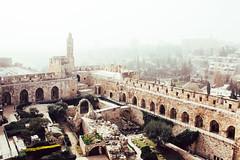 Dusty Jerusalem (drusus) Tags: israel jerusalem old travel cityscape cloudy dust misty towerofdavid walls