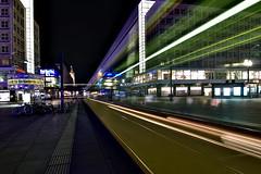 Weltzeituhr (Sven Grard (lichtkunstfoto.de)) Tags: berlin night light strassenbahn tram city nacht nachtaufnahme nachtfotografie nightshot nightphotography