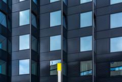 yellow on blue (Karl-Heinz Bitter) Tags: architektur holland netherlands niederlande rotterdam fassade farben facade building gebude architecture windows spiegelung reflection yellow blue lines khbitter karlheinzbitter d7100 city urban