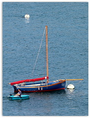 Postcard from Saint Pabu Brittany (patrick_milan) Tags: sea mer beach plage boat bateau sail landscape paysage brittany saintpabu plouguin