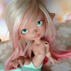 Isae the Mermaid  (Shimiro Kestrel) Tags: bjd doll cute kawaii mermaid depthsdolls deilf frenchbjd tiny tinydoll sirene bjdphotography bjdcustom bjdportrait dollphotography dolls ombrehair
