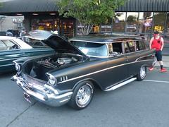 1957 chevrolet 'Black Betty' (bballchico) Tags: 1957 chevrolet stationwagon blackbetty carshow spokanewashington spokanecopsnkids