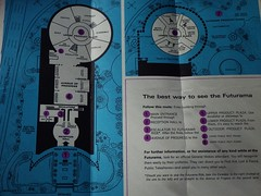 The Best Way to See the FUTURAMA (map) IMGP3511 (catchesthelight) Tags: futurama peacethroughunderstanding worldsfair worldsfairgrounds ny nyc queens unisphere flushingmeadownewyork newyorkworldsfairsouvenirbooklet 1960s advertising copyrighted 196465nyworldsfair nywf souvenirs buildings miniphotos handheldshots notscans 19641965 communications picturephones futuristic globalweathercenter spaceage atomicage map avenueofprogress productplazas ephemera