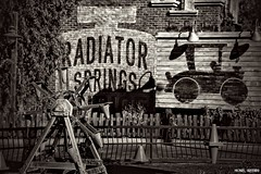 Radiator Springs...[Explore] (Ring of Fire Hot Sauce 1) Tags: disneycaliforniaadventure carsland radiatorsprings blackwhite monochrome