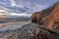 Hanko red cliffs (p hakala p) Tags: sunset hanko sun going down sea finaland finnish archipelago hang outdoor landscape sky