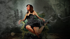 Daisy Halloween Pinup (ManchasDesigns) Tags: pinup halloween nightmare sexy daisy von diesel manchas designs creepy horror graphic design compositing
