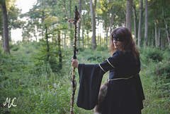 The Whispering Forest (Mathilde-Laurence) Tags: nikond7000 d7000 nikon nikkor forest fort pagan wicca wiccan sorcire witch witchcraft leaves feuilles dark nature shooting photographe girl woman brunette beautiful makeup light bois woods women sorcerer extrieur landscape paysage