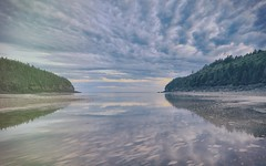 Bay of Fundy (Note-ables by Lynn) Tags: outdoor newbrunswick reflections skies clouds tides bayoffundy wow